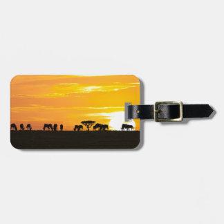 Sunset in Serengeti Luggage Tag