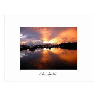 Sunset in Sitka Postcard