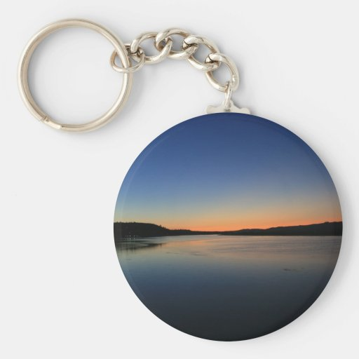 Sunset in South Bend Key Chain