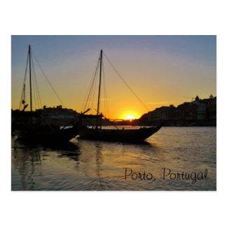 Sunset in Springtime, Porto Portugal Postcard