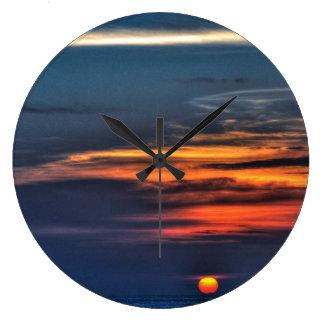 Sunset in St Petersburg Beach, Florida Large Clock