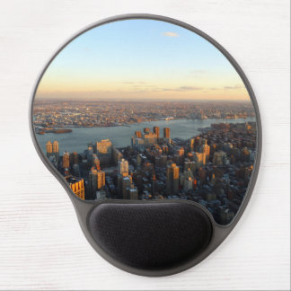 Sunset in the big city with tall buildings gel mouse pad