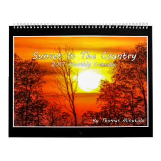 Sunset In The Country 2017 Calendar