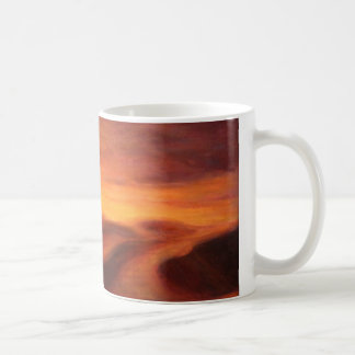 Sunset in the desert of Sahara Coffee Mug