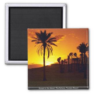 Sunset in the desert, The Sahara, Tunisia Desert Magnet