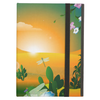 Sunset in the fantasy world iPad air case