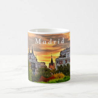 Sunset in the Retiro Park in Madrid. Coffee Mug