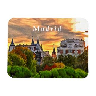 Sunset in the Retiro Park in Madrid. Magnet