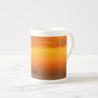 sunset in  the sea tea cup