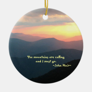 Sunset in the Smokies: Mtns are calling Customize Ceramic Ornament