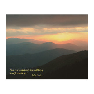 Sunset in the Smokies: Mtns are calling / Muir Wood Canvas