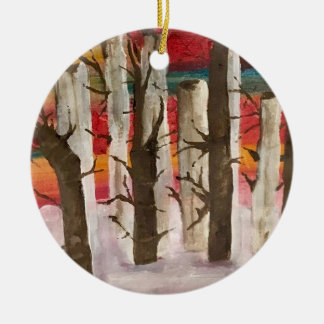 """""""Sunset in the Snow"""" Ornament"""