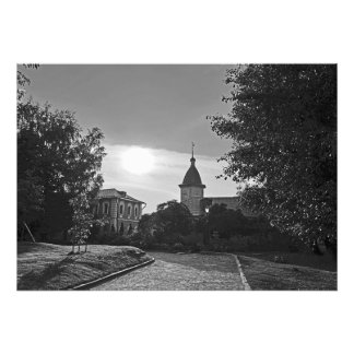 Sunset in the Spaso-Andronikov Monastery in Moscow Photo Print