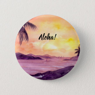 Sunset in Tropics by Farida Greenfield 6 Cm Round Badge