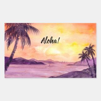 Sunset in Tropics by Farida Greenfield Rectangular Sticker