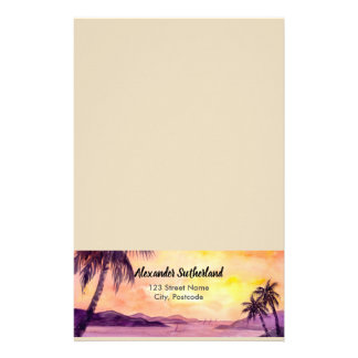 Sunset in Tropics by Farida Greenfield Stationery