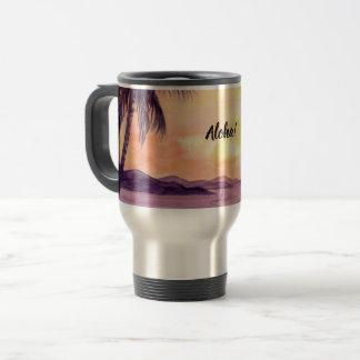 Sunset in Tropics by Farida Greenfield Travel Mug