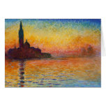 Sunset in Venice, Claude Monet Card