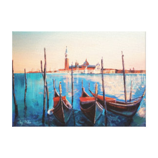 Sunset in Venice Italy Canvas Print