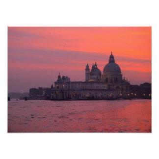 Sunset in Venice Photo Print