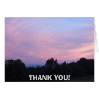 Sunset in Vermont Thank you Greeting Card
