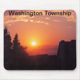 sunset in washington township mouse pad
