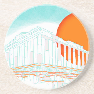 sunset inside Parthenon Beverage Coasters