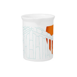 sunset inside Parthenon Beverage Pitcher