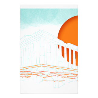 sunset inside Parthenon Personalized Stationery