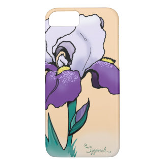 Sunset Iris Cute Floral iPhone 8/7 Case