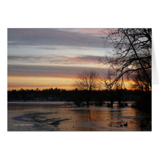 Sunset January 4th Card