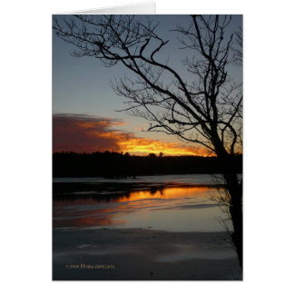 Sunset January 9th Card