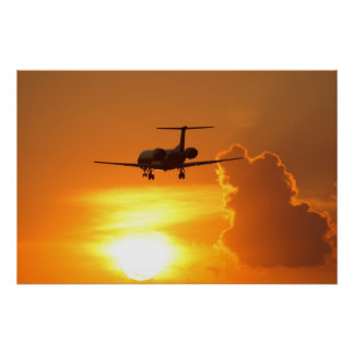 Sunset Jet Poster