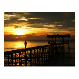 Sunset Jetty Postcard