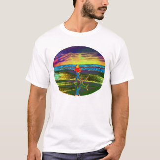 Sunset Jog with a dog... T-Shirt