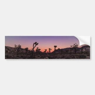 Sunset Joshua Tree National Park Bumper Sticker