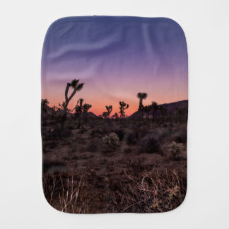Sunset Joshua Tree National Park Burp Cloth