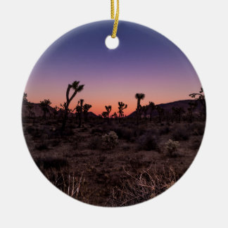 Sunset Joshua Tree National Park Ceramic Ornament