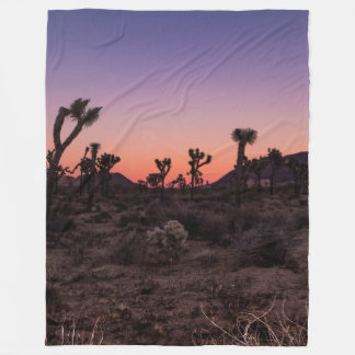 Sunset Joshua Tree National Park Fleece Blanket