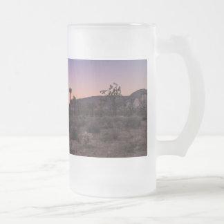 Sunset Joshua Tree National Park Frosted Glass Beer Mug