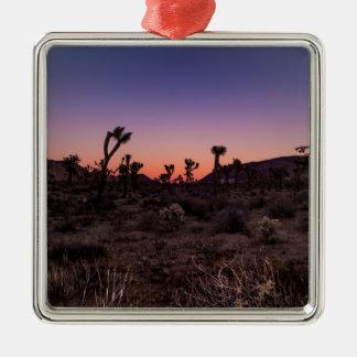 Sunset Joshua Tree National Park Metal Ornament
