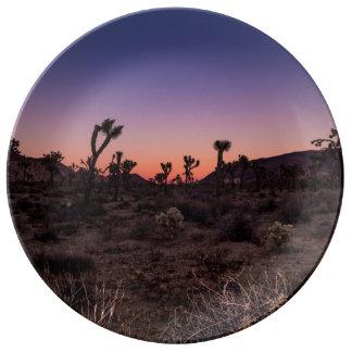 Sunset Joshua Tree National Park Porcelain Plates