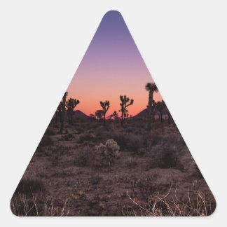 Sunset Joshua Tree National Park Triangle Sticker