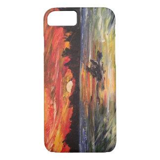 Sunset Kayaker Painting iPhone 7 Case