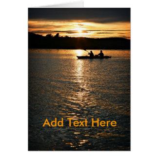 Sunset Kayaking Card