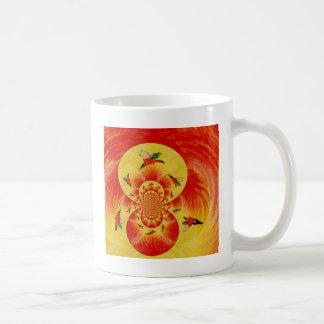 Sunset Kingfisher Abstract Bird Art Basic White Mug