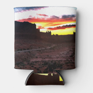Sunset La Sal Mountains Viewpoint Arches National Can Cooler