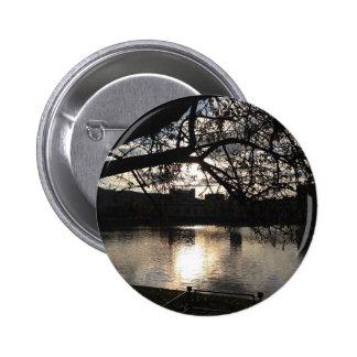 Sunset lake 6 cm round badge