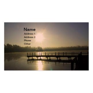 Sunset Lake Business Card