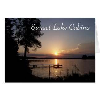 Sunset Lake Cabins Card